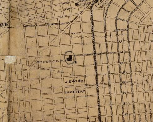 Detail from the 1873 Langley Map of San Francisco. Image courtesy ofthe David Rumsey Collection.