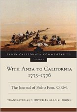 With Anza to California, 1775-1776, translated and edited by Alan Brown. Image from Amazon.