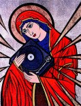 Madonna Record Player painting by Chris Shaw, 2000