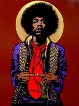 Jimi Hendrix painting by Chris Shaw, 2010