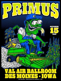 Primus poster by Chris Shaw