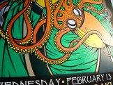 Snaphot of Soundgarden silkscreen poster by Chris Shaw (detail 3)
