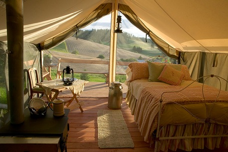 Travel Bug: Glamping…Just My Flute of Glampagne