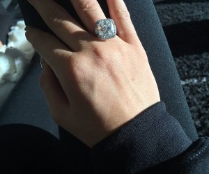 kylie jenner sends engagement rumors ablaze when she posts this sparkling diamond on her twitter account.