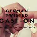 German Twisted Cast-On - YouTube