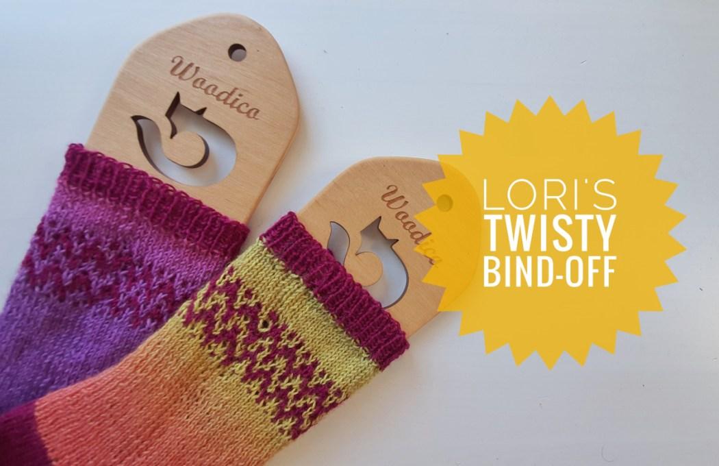 Lori's Twisty Bind-Off ou rabattage des mailles sur des côtes