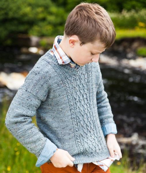 Broadford - top down sweater