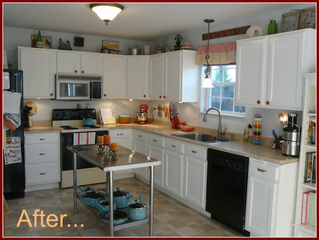 inexpensive kitchen cabinets portable islands for the diy cabinet update