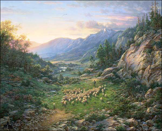 Larry Dyke The Good Shepherd Paper and Canvas Art Prints