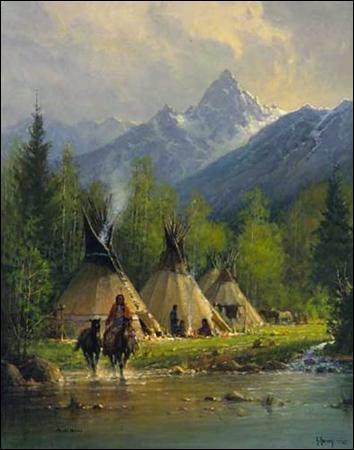 American Wallpaper Fall River G Harvey Teton Valley Christ Centered Art