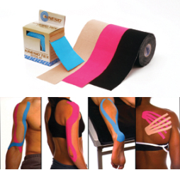 Les bandes de kinesio taping