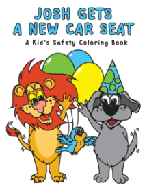 Car Seat Safety Coloring Book Cover Page 01