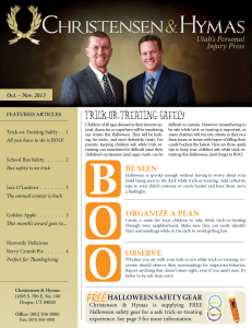 Oct.-Nov. 2013 Newsletter (page 1 only)