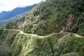 Coroico Road in La Paz