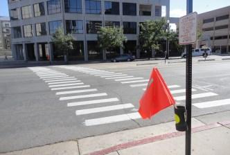 Crosswalk_Orange Flags