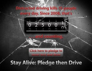 Take the Pledge- Stay Alive: Pledge Then Drive