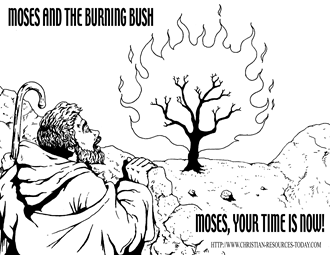 Coloring Sheets About Moses And The Burning Bush Coloring