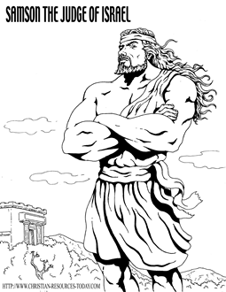 printable bible coloring pages samson