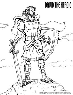 King David Bible Story Clip Art