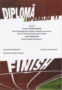 Diploma SuperBlog 2011
