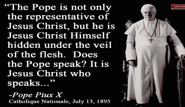 Does the Pope Represent Jesus Christ on earth?