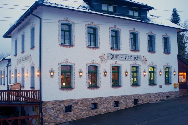 Unsere Operationsbasis für drei Nächte: der Alpenhof