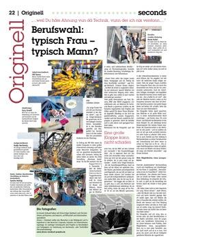 """Christian Ahrens, Bericht über """"Abenteuer Ausbildung"""", Frauen in technischen Berufen"""