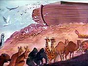 Animales entrando al Arca. Copyrighted.