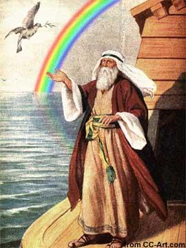 Noah sends out a dove