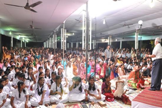 crowd audience