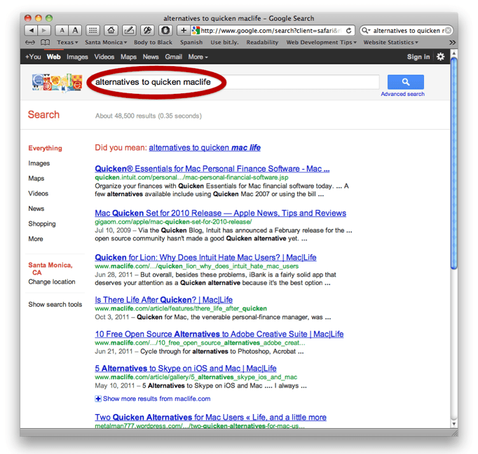 Use Google to Search One Website - Mac & iPhone Answers, by