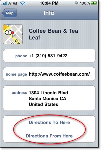 iPhone Map Info