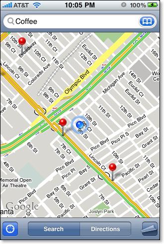 iPhone Map traffic