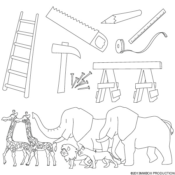 Christian clipArts.net _ Tools and animals of Noah's ark
