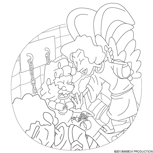 peter in prison colouring pages