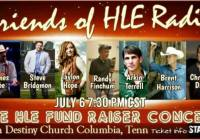"""Christian Country Artists Coming Together For The """"Friends Of HLE Radio"""" Benefit Concert"""