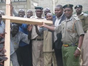 Cross planted in side Kenya Maximum Security Prison