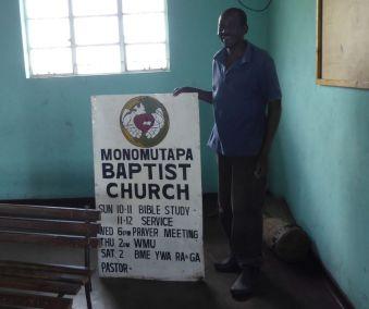 Pastor Obert greets us