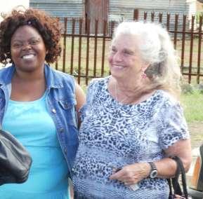 Precious our guide with Pastor Carol