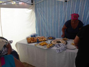 Church ladies prepared treats for everyone