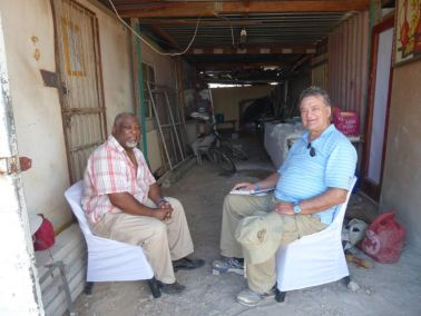 Pastor Manfred shares his testimony with Pastor Bill