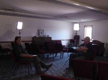 Pastor Bill interviewing Pastor Darren