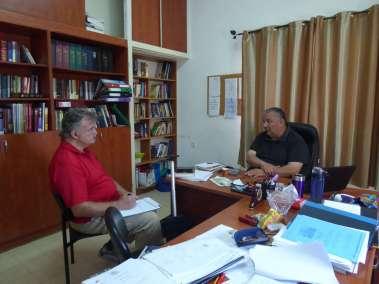 Pastor Bill interviewing Azar Ajaj