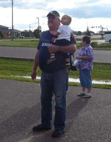 Pastor Darren (Grandpa) with baby Uriah