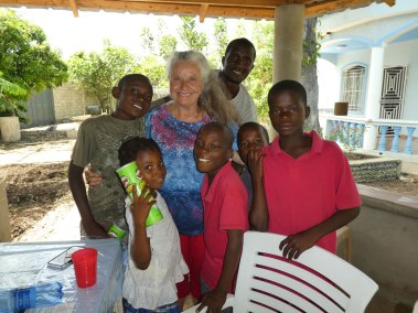 Pastor Carol with the kids