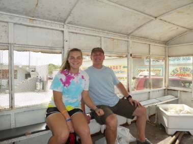 ccm Board member Jim Teal and daughter Grace join us