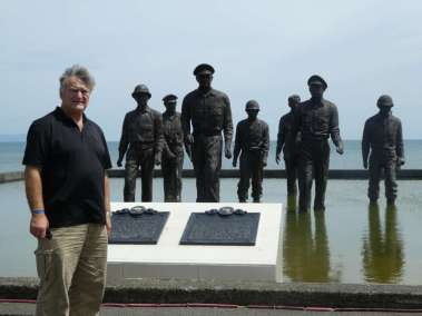 WW2 General McArthur Memorial. This is the beach McArthur left and returned to