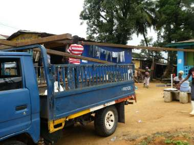 Loading truck for transport