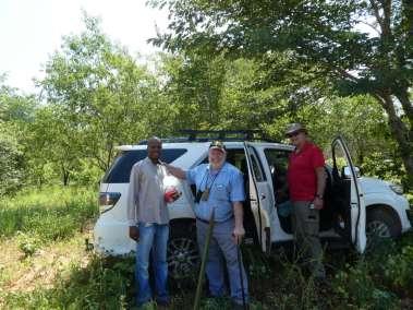 Pastor Karabo, Botswana Cross Planter Callie and Pastor Bill