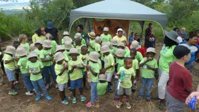Heart For Africa K-2nd Grade Kids Participate In Cross Planting